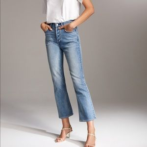 Aritzia Denim Forum Bailey High Rise Crop Jeans